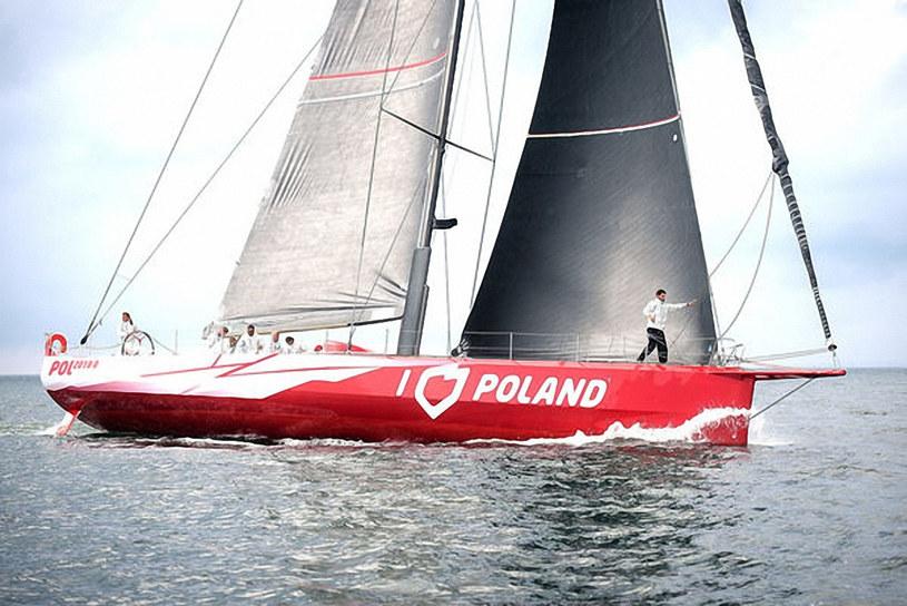 """Jacht regatowy """"I love Poland"""" podczas rejsu dookoła świata /Laski Diffusion /East News"""