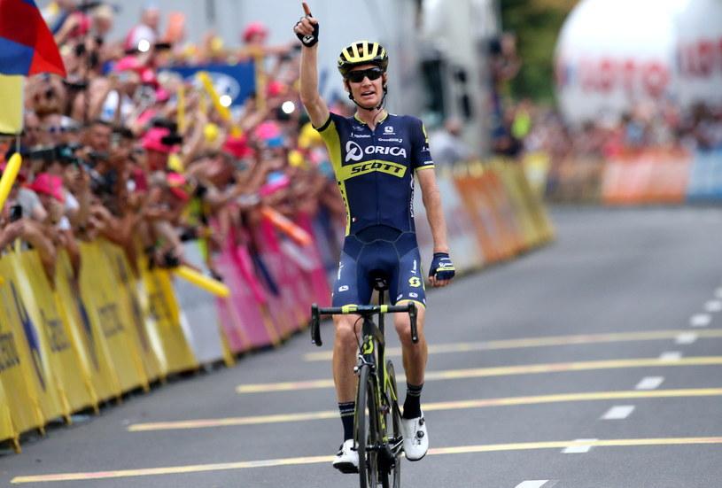 Jack Haig na finiszu szóstego etapu /Grzegorz Momot /PAP