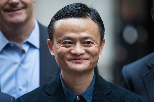 Jack Ma, dyrektor wykonawczy Alibaba Group (posiada 7,8 proc. akcji spółki) /AFP