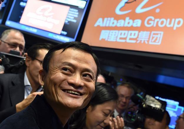 Jack Ma w czasie debiutu Alibaby na NYSE w 2014 r. /AFP