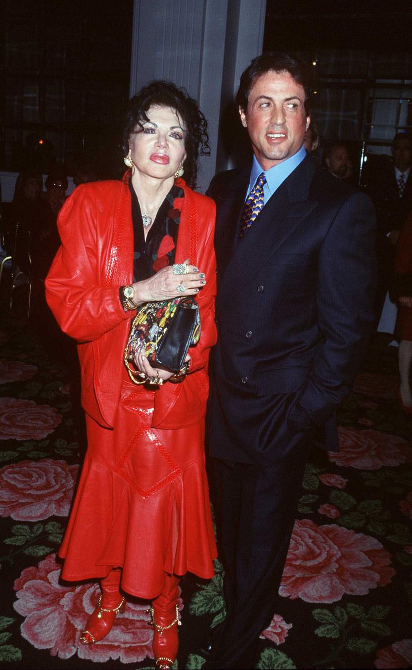Jackie Stallone ze swoim znanym synem /Brenda Chase /Getty Images