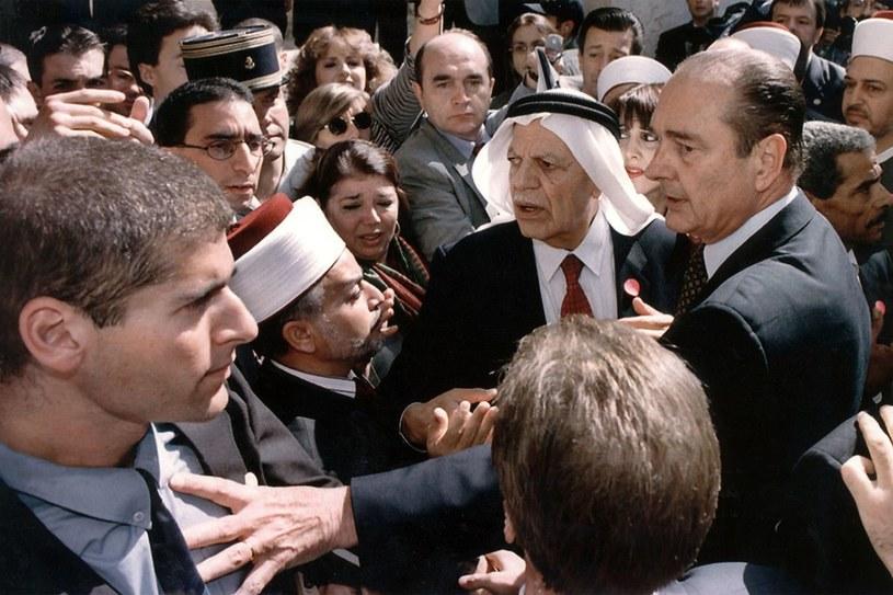 Jacques Chirac (z prawej) /AFP /AFP