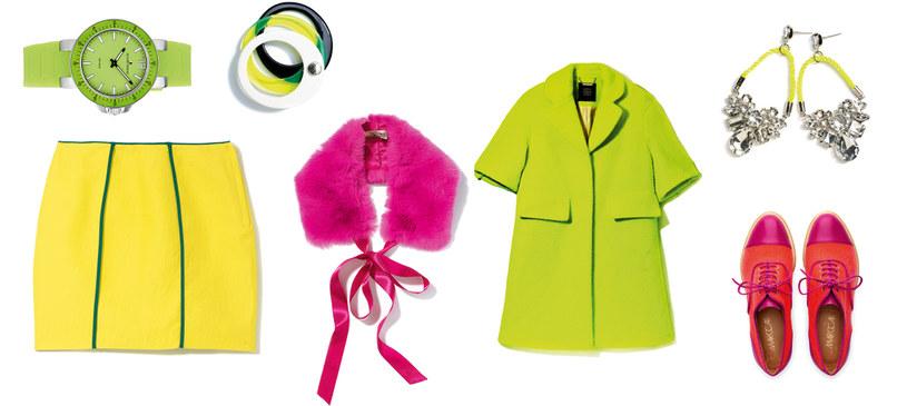 JACQUES LEMANS/APART zegarek | FURLA bransoletki | H&M spódnica, kolczyki | SIMPLE płaszcz | MARC CAIN buty /Twój Styl
