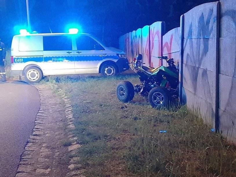 Jadący quadem 19-letni młodzieniec nie opanował pojazdu /Straż Pożarna /