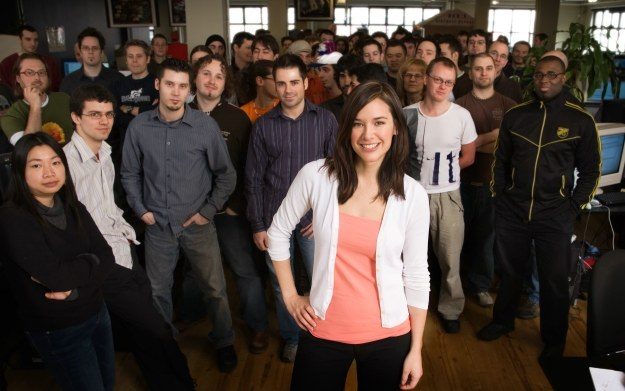 Jade Raymond z zespołem pracującym nad pierwszą częścią serii Assassin's Creed /materiały źródłowe