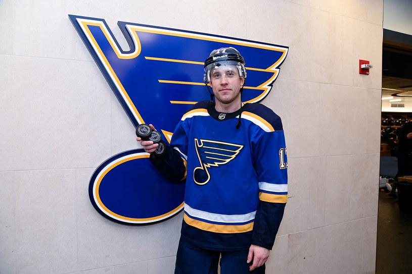 Jaden Schwartz z St. Louis Blues /Scott Rovak /Getty Images