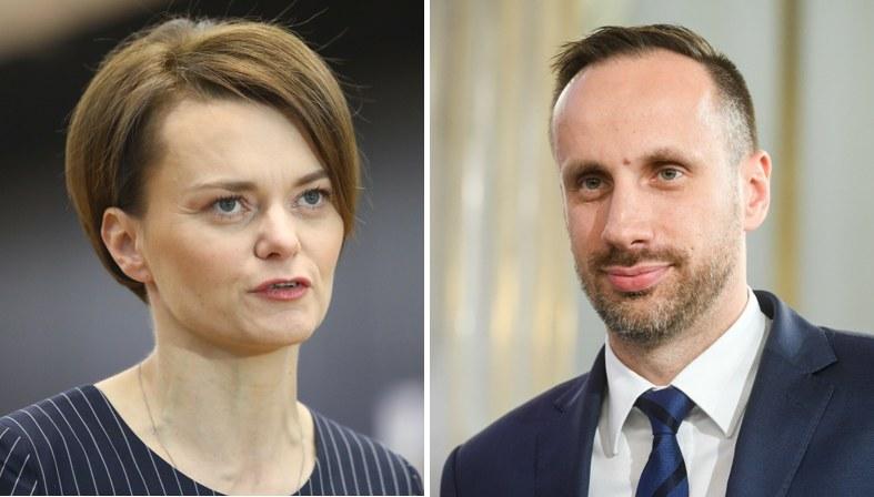 Jadwiga Emilewicz (fot.Tomasz Jastrzebowski ) i Janusz Kowalski (fot. Jacek Dominski) /Reporter