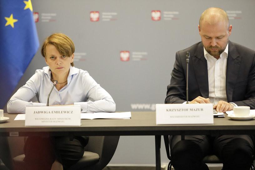 Jadwiga Emilewicz i Krzysztof Mazur /Grzegorz Banaszak/REPORTER /East News