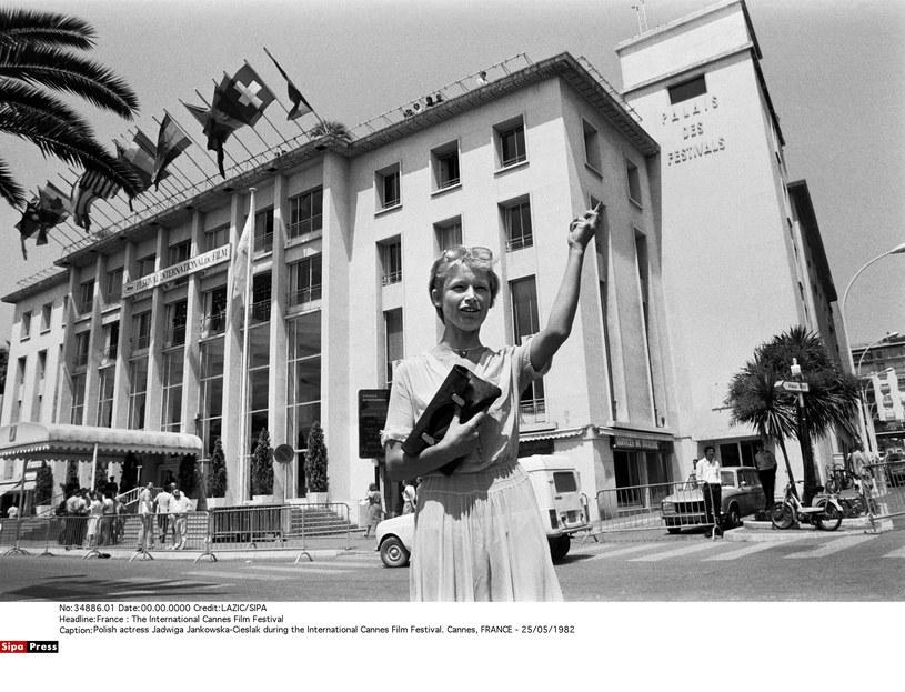 Jadwiga Jankowska-Cieślak na festiwalu w Cannes w 1982 roku /LAZIC/SIPA /East News