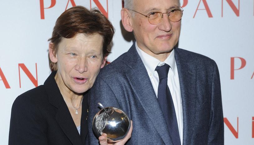 Jadwiga Jankowska-Cieślak z mężem Piotrem, 2012 rok /Jarosław Antoniak /MWMedia