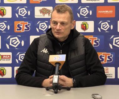 Jagiellonia Białystok. Trener Bogdan Zając i Tomas Prikryl przed meczem z Rakowem Częstochowa. wideo