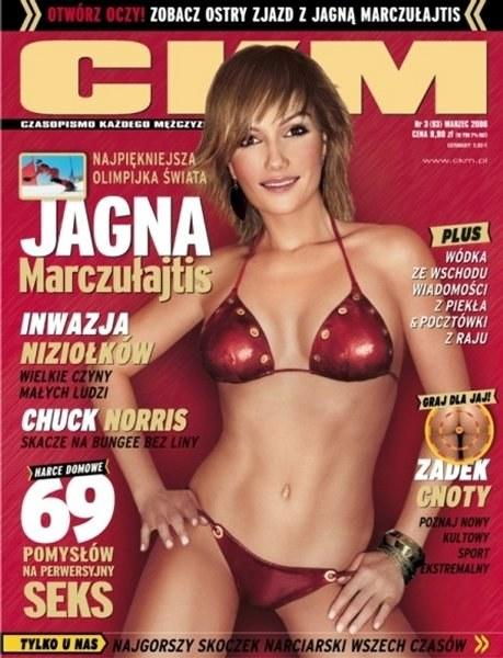 Jagna Marczułajtis na okładce magazynu CKM /INTERIA.PL