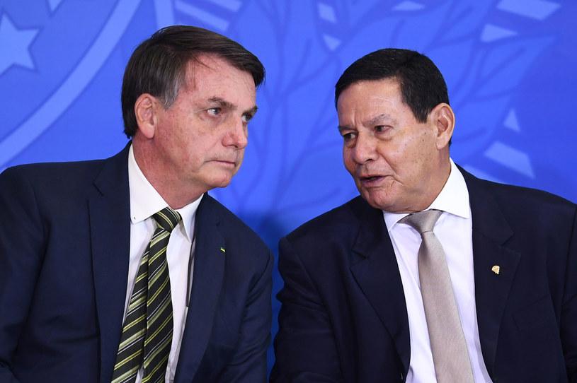 Jair Bolsonaro i Hamilton Mourao /AFP