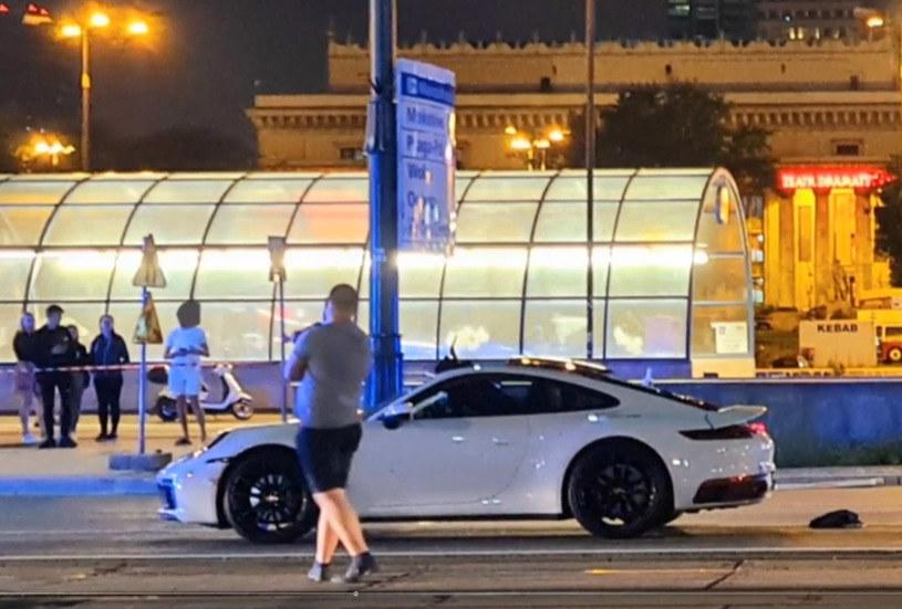"""Jak informowało """"Miasto jest Nasze"""", za kierownicą porsche siedział patoinfluencer /Polsat News"""