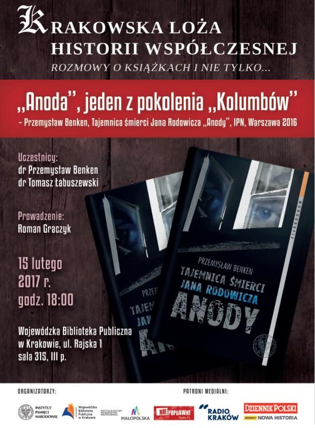 """Jak mocne są poszczególne hipotezy przyczyn śmierci """"Anody""""? Jakie znaczenie dla dziejów Polski przed i po 1989 r. miały losy takich ludzi jak Jan Rodowicz i takich jak Wiktor Herer? O tym chcemy rozmawiać w Bibliotece przy Rajskiej. /materiały prasowe"""