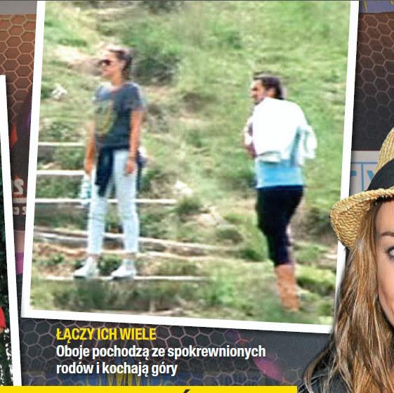 Jak na razie jedyne wspólne zdjęcie Alicji i Sebastiana zrobione w górach /Na żywo