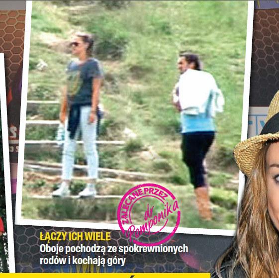 Jak na razie to jedyne wspólne zdjęcie Alicji i Sebastiana zrobione w górach /Na żywo