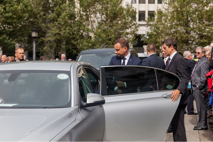 """Jak podaje """"Rz"""", Prezydent Andrzej Duda podczas wizyty w Londynie w 2015 roku jeździł taksówką /Piotr Apolinarski /Agencja FORUM"""
