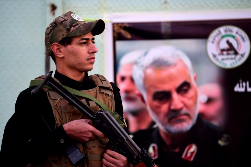Jak podały irańskie media, atak na amerykańskie bazy był odwetem za zabicie generała Sulejmaniego /MURTAJA LATEEF /PAP