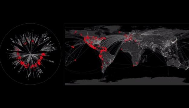 Jak szybko pandemia ogarnie całą Ziemię? /materiały prasowe