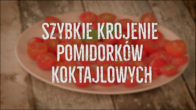 7e6046b660 Jak szybko pokroić pomidorki koktajlowe  Genialny trik - Gotowanie w  INTERIA.TV