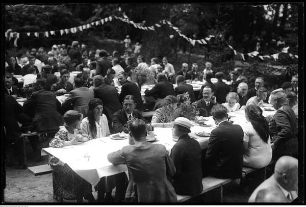 Uroczystość dotycząca szkoły rolniczej w Miętnem. 1935 r.