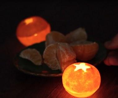Jak zrobić lampion z mandarynki?