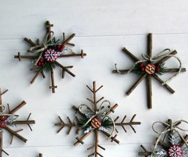 Jak zrobić świąteczną dekorację z gałązek?