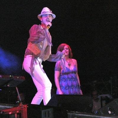 Jake Shears i Ana Matronic (Scissor Sisters) w Gdyni /INTERIA.PL