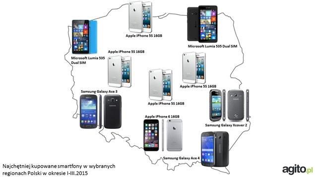 Jakie smartfony są wybierane przez kolejne województwa? /materiały prasowe