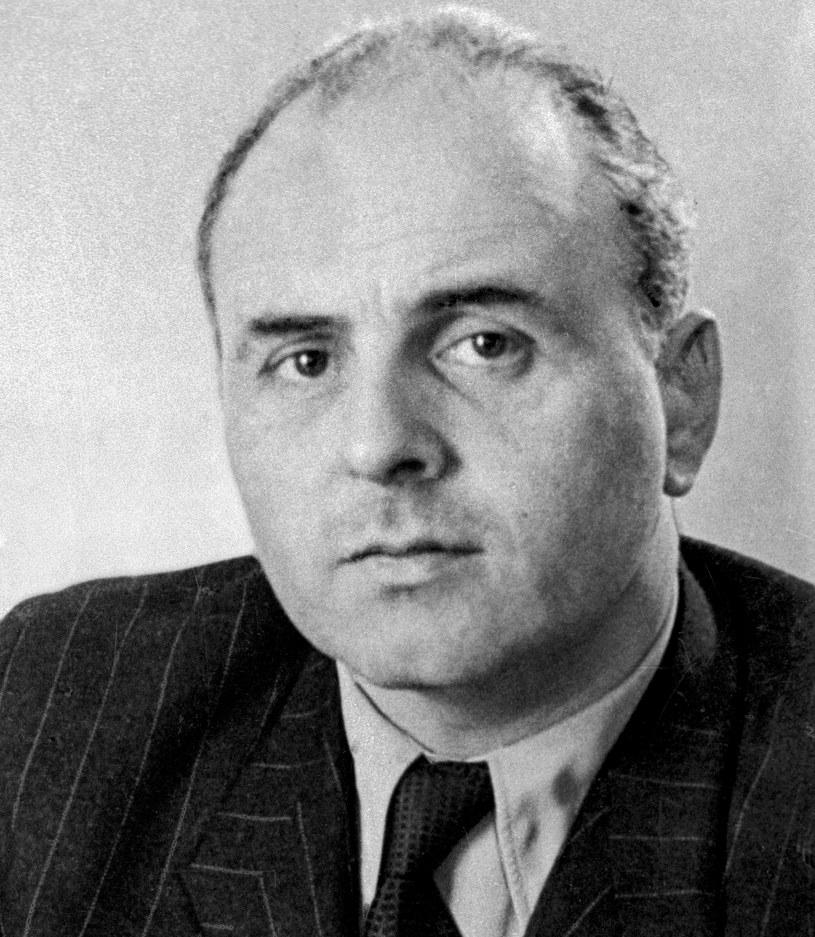 Jakub Berman (zdjęcie z 1946 r.). Reprodukcja Roman Kotowicz /Agencja FORUM