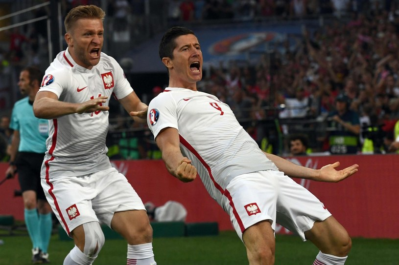 Jakub Błaszczykowski i Robert Lewandowski podczas Euro 2016 /AFP