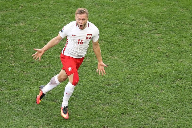 Jakub Błaszczykowski na murawie w Marsylii podczas meczu Polska - Ukraina /AFP