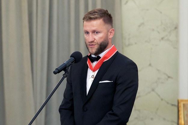 Jakub Błaszczykowski odznaczony Krzyżem Oficerskim Orderu Odrodzenia Polski /Mateusz Marek /PAP