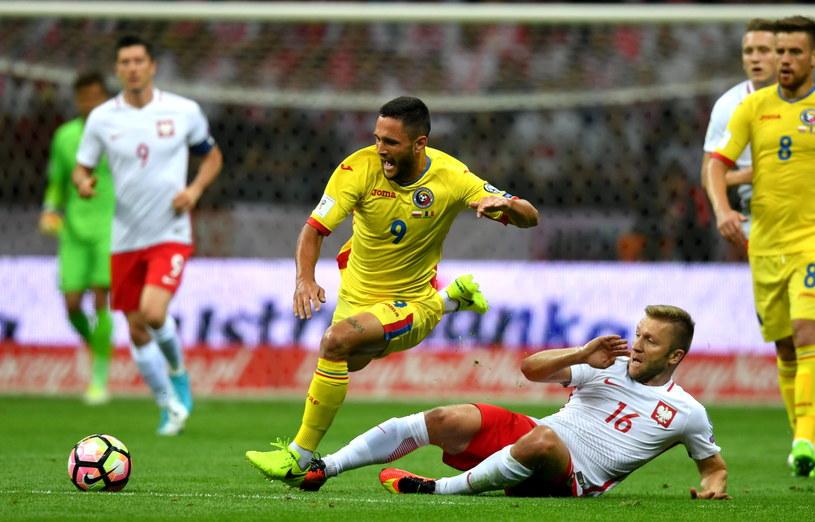 Jakub Błaszczykowski (P) w meczu z Rumunią (3-1) /Bartłomiej Zborowski /PAP