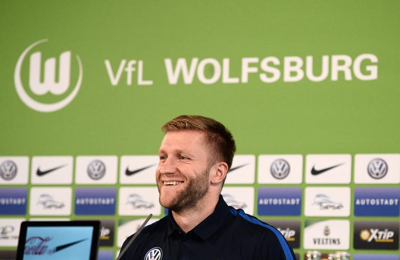 Jakub Błaszczykowski podczas prezentacji w VfL Wolfsburg /AFP