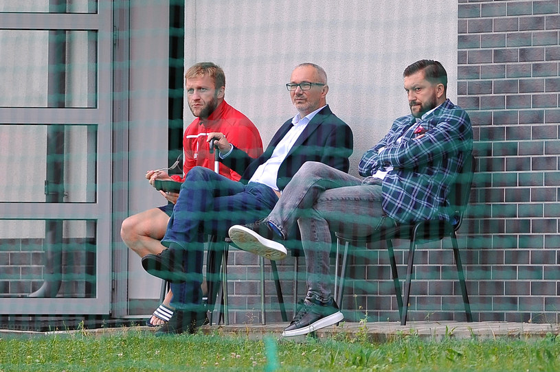 Jakub Błaszczykowski, Tomasz Jażdżyński i Dawid Błaszczykowski /Fot. Krzysztof Porębski /Newspix