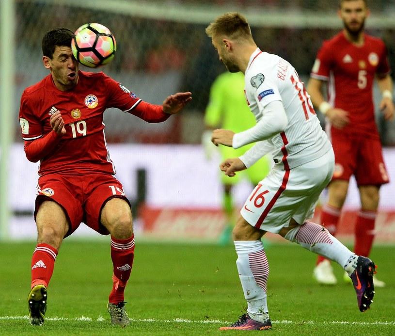Jakub Błaszczykowski w meczu z Armenią /AFP