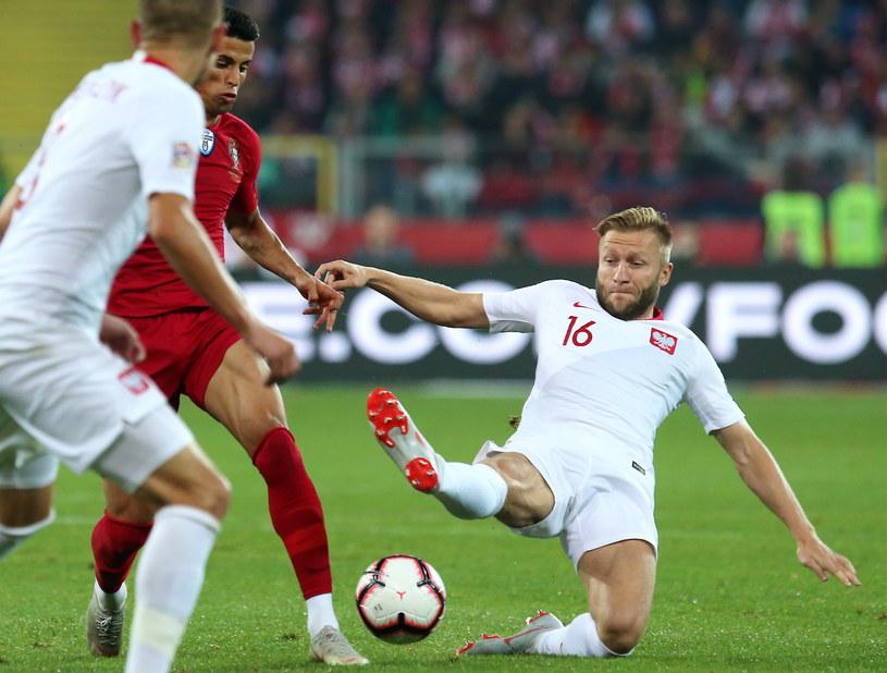 Jakub Błaszczykowski w meczu z Portugalią /Andrzej Grygiel /PAP