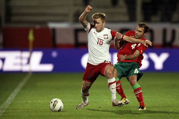 Jakub Błaszczykowski (z lewej) był najlepszym piłkarzem reprezentacji w meczu z Białorusią. /PAP/EPA