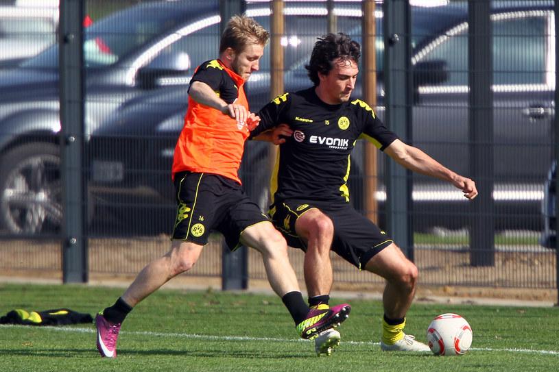 Jakub Błaszczykowski (z lewej) i Mats Hummels podczas treningu Borussii Dortmund /Christof Koepsel /Getty Images