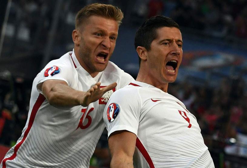 Jakub Błaszczykowski (z lewej) i Robert Lewandowski podczas Euro 2016 /AFP