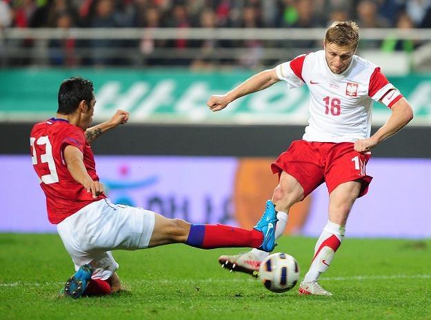 Jakub Błaszczykowski (z prawej) był zdaniem INTERIA.PL najlepszym zawodnikiem naszej reprezentacji /INTERIA.PL