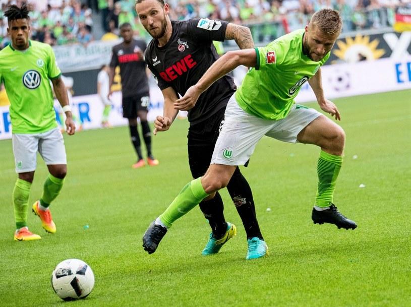 Jakub Błaszczykowski (z prawej) i Marco Hoeger z FC Koeln /PAP/EPA