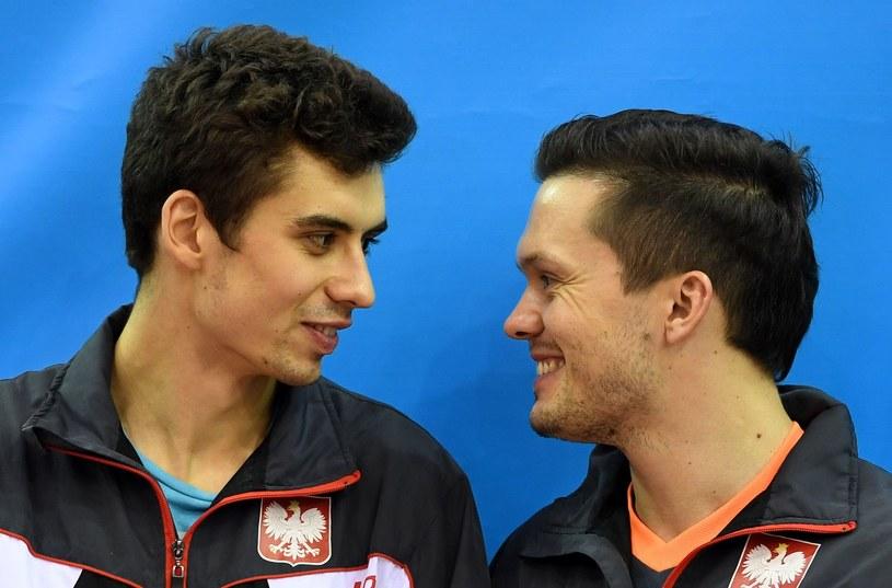 Jakub Dyjas (z lewej) i Daniel Górak /AFP