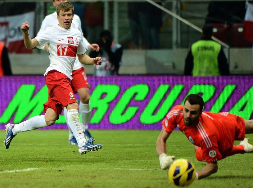 Jakub Kosecki ma na koncie występy w reprezentacji Polski /AFP