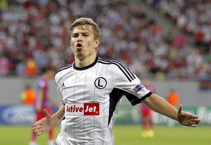Jakub Kosecki strzelił ważnego gola w Bukareszcie /PAP/EPA