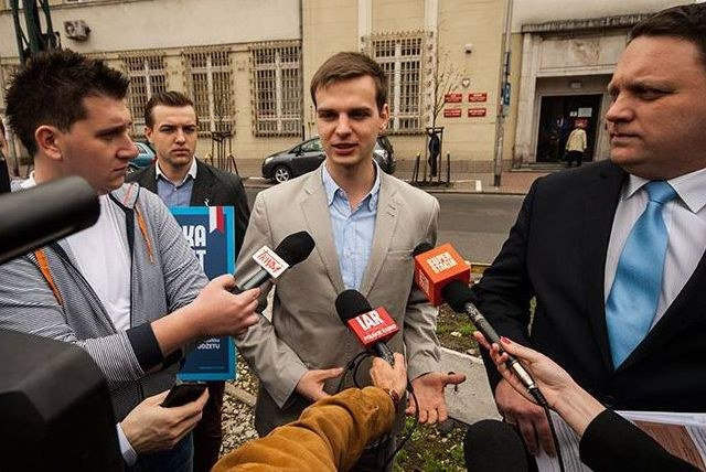 Jakub Kulesza będzie rzecznikiem klubu parlamentarnego Ruchu Kukiza, fot. Facebook /