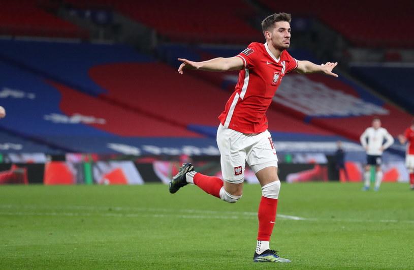 Jakub Moder strzelił gola na Wembley /PAP/EPA
