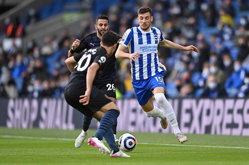Jakub Moder w meczu z Manchesterem City /Justin Setterfield /Getty Images